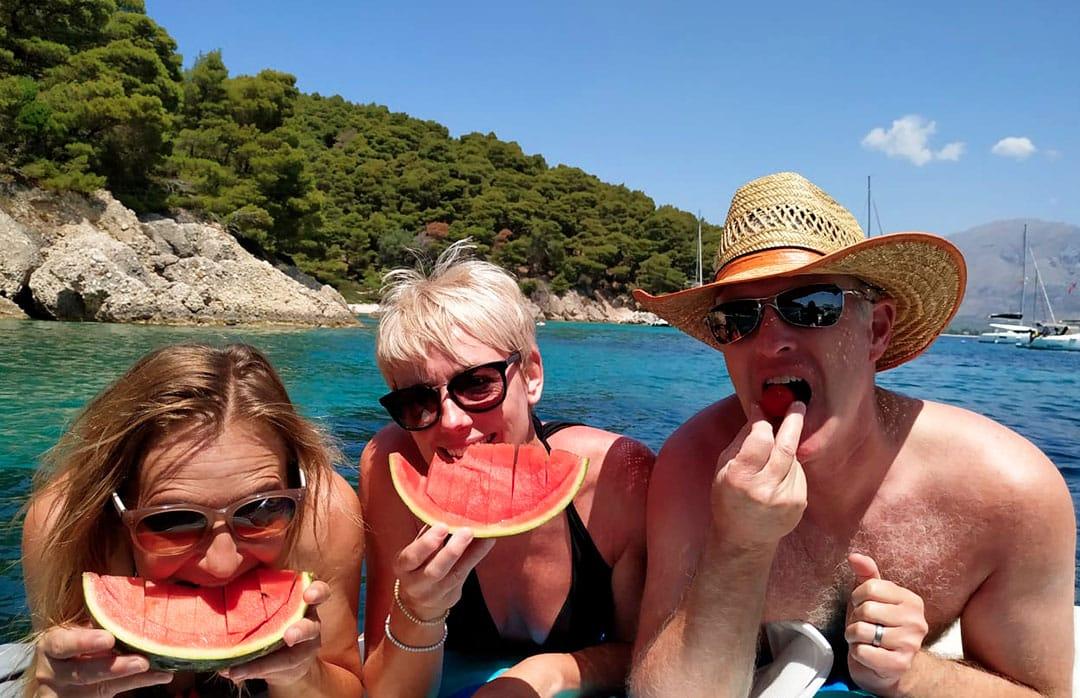 boat meganisi greece