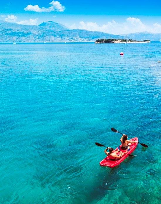 canoe meganissi greece
